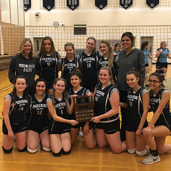 Junior Girls' Volleyball team wins CISAA Division III Championship